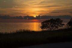 Solnedgång över Kalmarsund från Djupvik