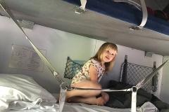 God morgon! Klara sovit gott på tåget!
