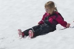 Klara i snön på Njulla