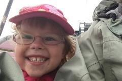 Klara tyckte det var jättekul att åka linbana!